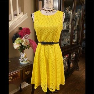 Beautiful Yellow Sharagano Dress